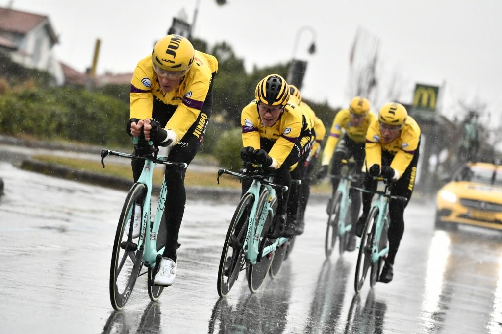 Jumbo-Visma tweede in ploegentijdrit Tirreno