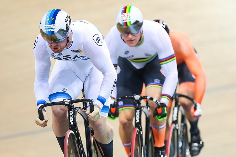 Nederlandse teamsprinters winnen goud in Frankrijk