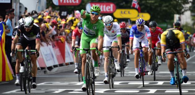 Groenewegen tweede achter Kittel in Tour