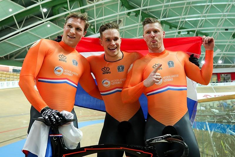 Teamsprinters naar goud op Olympische Spelen