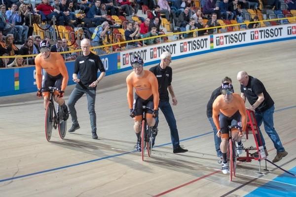 Nederlandse teamsprinters winnen goud in Minsk