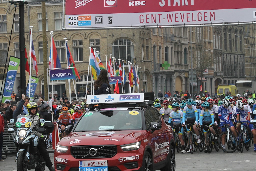 Deelnemers en rugnummers Gent-Wevelgem vrouwen