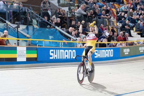 Havik en Van Schip richting podium in Gent