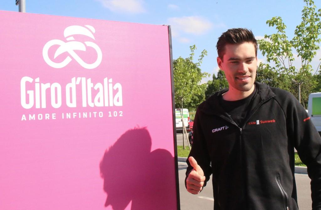 Dumoulin ook in tweede rit Giro beste landgenoot