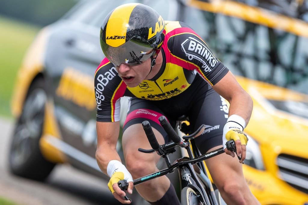 Lars Boven naar nationale titel tijdrijden junioren