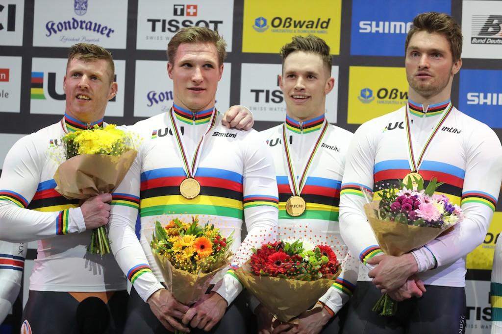 Nederland: goud en wereldrecord op teamsprint