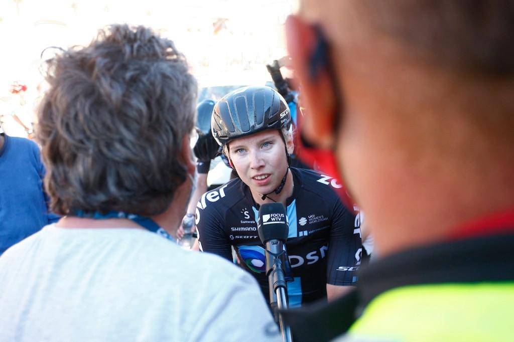 Wiebes is tweede en eerste in Belgium Tour