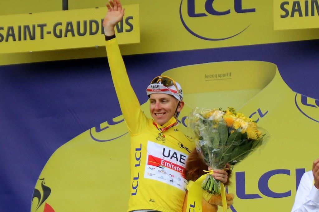 Pogacar wint zelf op Col du Portet