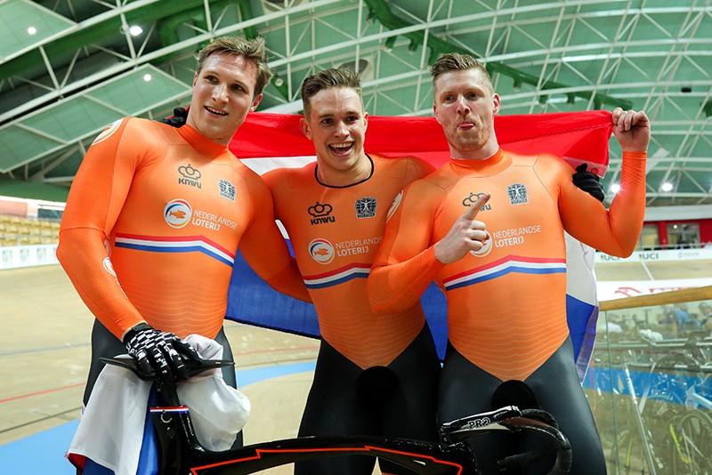 Nederlandse teamsprinters winnen goud op WK
