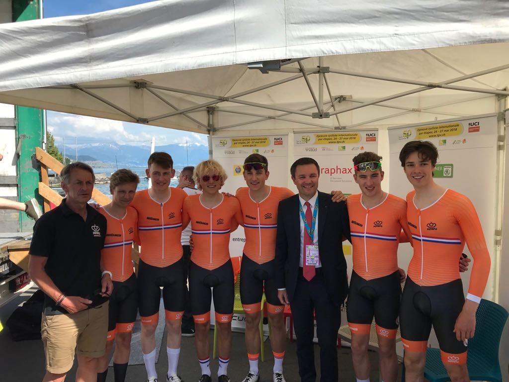 Nederland wint ploegentijdrit Pays de Vaud